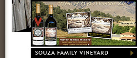 Featured website design - Souza family Vineyard