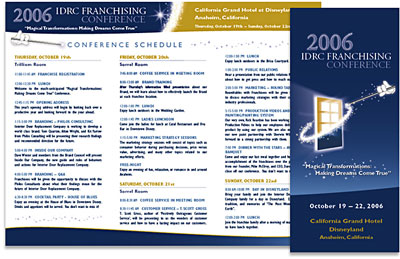 IDRC Franchising Conference Brochure